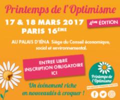Venez au Printemps de l'Optimisme du 17 au 18 mars !